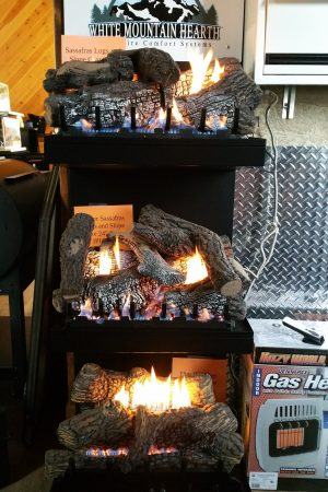 White Mountain Gas Log Set Display