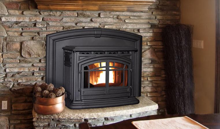 Fireplace insert at Hillside Acres Stoves
